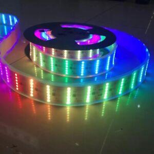New Bright DC12V 5M 900LED SMD 5050 1903IC 6 Row IP67 RGB Flexible Strip Lights