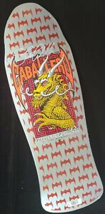 Steve Caballero Signed Silver Dragon Powell Peralta Autograph Skateboard Deck
