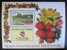 Bloc Salon du timbre 1994 - Fleurs Parc floral
