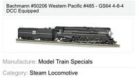 SALE! Bachmann 50206 WESTERN PACIFIC 4-8-4 GS4 Steam Loco #485 w/DCC NIB