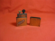 French Antique Trench Art WW1 Brass Petrol Lighter