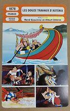 Cartoon The Twelve Tasks of Asterix Goscinny & Uderzo French Film Trade Card