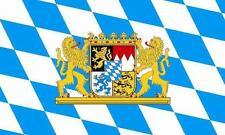 Fahne Flagge Bayern mit Löwenwappen 20 x 30 cm Bootsflagge Premiumqualität