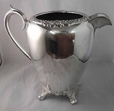 F B ROGERS - WATER PITCHER Silverplate on Copper - ROSE TRIM