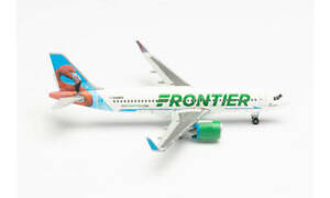 Herpa Wings 534697 Frontier A320neo 'Flo The Flamingo' 1/500 Scale Diecast Model