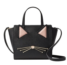 Kate Spade Black Cat Mini Hayden Jazz Things Up Crossbody Handbag