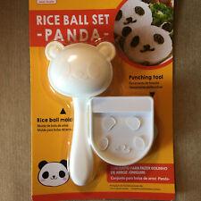 Bento Rice Ball Onigiri Mold Mold + Nori Punch Sushi Panda Lunch