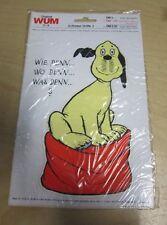 Aufkleber Wum Loriot Hund 18 cm aus den 80er Jahren