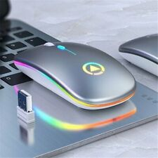 2.4GHz Optical USB Wireless Mouse Mice Slient w/LED Light For PC Laptop Macbook