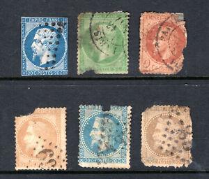 FRANCE Stamp Lot #11: Assorted 1853-1863, Some Better (Damaged, Fillers)