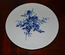Meissner Porzellan Wandteller/Sammelteller Blumendekor, Goldrand