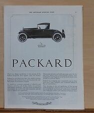 1922 magazine ad for Packard - Single Six Runabout, no parallel in history