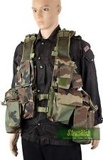 US ARMY / SOUTH AFRICAN STYLE 12 POCKET ASSAULT VEST in WOODLAND CAMO