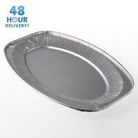 Oval Aluminium Foil Tray Buffet Disposable Party Serving Food Platters