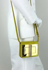 Tom Ford Natalia Bag Clutch Yellow Gold Suede Leather Crossbody Runway Auth