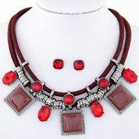 Ladies fashion Necklace set collar chunky crystal rhinestone pendant necklace