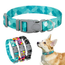 Comfortable Nylon Dog Collar With Adjustable Safety Buckle 3 Patterns S&M Dogs