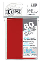 60 ULTRA PRO DECK PROTECTOR SMALL PRO-MATTE ECLIPSE A RED SLEEVES YGO VGD