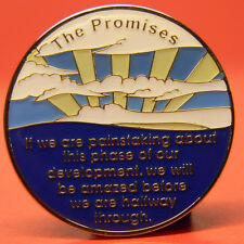 ALCOHOLICS ANONYMOUS - THE PROMISES -CHIP-MEDALLION