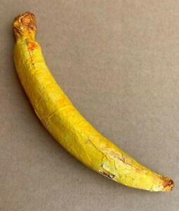 1 Yellow Banana Artificial Fruit Paper Mache Hollow Decorative Fruit