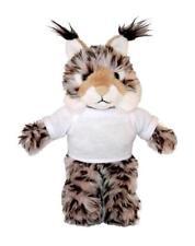 "Personalized 12"" Lynx Wild Cat Plush Stuffed Animals w/ Imprinted Logo T-shirt"
