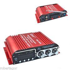 AMPLIFICATORE AUDIO 12V USB MP3 CASA AUTO 2 CANALI STEREO 40W TELECOMANDO MA400