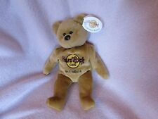 HARD ROCK CAFE Isaac Beara Collectible Bear Gatlinburg TN with tag (1 of 5)