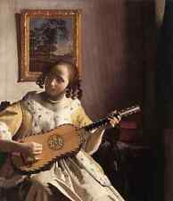 Metal Sign Vermeer The Guitar Player A4 12x8 Aluminium