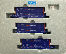KATO 1066180 N Scale BRAN6066 MAXI-IV Well 3 Car Set 6 Pacer Containers 106-6180
