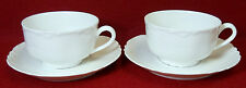 "HAVILAND china Limoges France RANSON WHITE Cup & Saucer 2-1/4"" x 3-3/4"" set of 2"