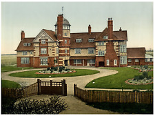 Herne Bay. Railway Mens Convalescent Home.  PZ vintage photochromie,  photochr