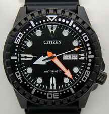 "Citizen Automatico NH8385-11E Orologio ""All Black"" Uomo Nuovo con Box"
