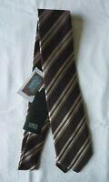 Cravate soie marron homme accessoires vêtement costume neuf