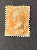 US Stamps -#152 Used Webster Crease CV$210.00 )E23).