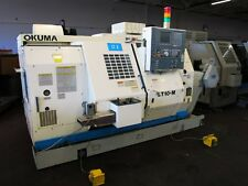 Okuma Lt10-M Dual Spindle/Turret Cnc Lathe Model No. Lt10-M Id# L-050