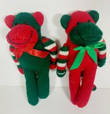 "Christmas Themed Dog Toys (2 pc) Set - Squeaky Pet Toys - 5"" x 2"" x 9"""