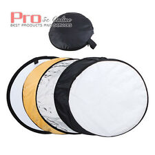 """32"""" Collapsible Reflector 5-In-1 80cm Photo Modifier Studio Carry Bag Stand UK"""