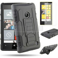 New Shockproof  Hybrid Hard Case Cover For Nokia Lumia 520+Free Screen Protector