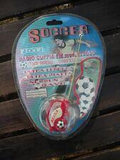 RADIO CUFFIA FM Soccer AUDIOLA Mod.RT2030 Sigillato MINI RADIO Rara COLLEZIONE