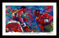MUHAMMAD ALI JOE FRAZIER FIGHT OF CENTURY ART PRINT/POSTER SIGNED BY WINFORDD