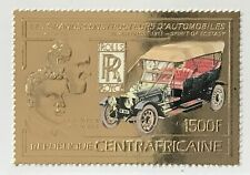 Central African Republic #594A MH CV$20.00 Gold-Embossed Rolls-Royce