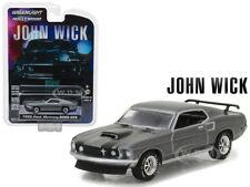 1969 FORD MUSTANG BOSS 429 GREY JOHN WICK MOVIE 1/64 DIECAST GREENLIGHT 44780 E