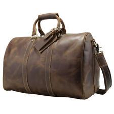 Genuine Leather Men Duffle Gym Bag Travel Bag Luggage Messenger Shoulder Bag