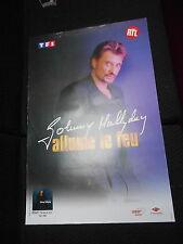 JOHNNY HALLYDAY ALLUME LE FEU 80s RARE AFFICHE FRENCH POSTER ORIGINAL