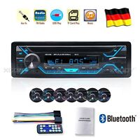AUTORADIO BLUETOOTH Singolo DIN STEREO MP3 PLAYER USB TF AUX FM RADIO 4X60W DE