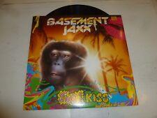 "BASEMENT JAXX - Jus 1 Kiss - 2001 UK 3-track 12"" vinyl single"