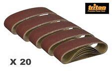 Triton Lot de 20 bandes abrasives - 76 x 533 mm - Pour ponceuse - Grain assortis