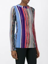 NWT Missoni Multi color wool blend ribbed knit blouse 198536 Size 40 SOLD OUT!