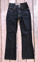 Vintage Express Bleus Mid Rise Boot/Flare Cut Dark Wash Jeans Womens Sz 1/2R