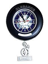 voiture jantes pneus de Montre horloge pendule murale GARAGE déco 23cmø